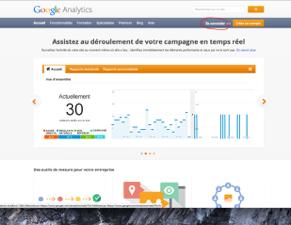 capture d'écran de la page d'acueil de Google Analytics